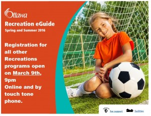 Spring and summer Recreation 2016