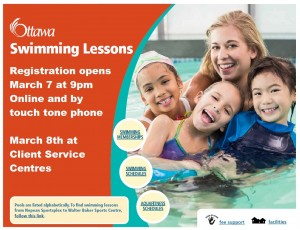 Swimming Lessons Registration March 2016