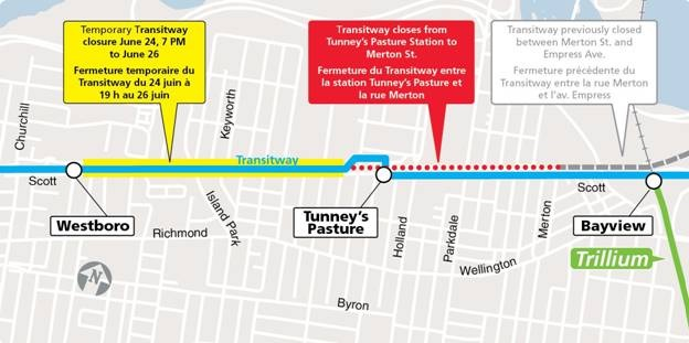 June 2016 transitway construction map