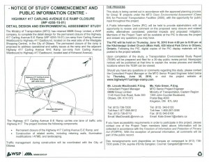 Notice of Study Commencement - Carling EB Onramp closure