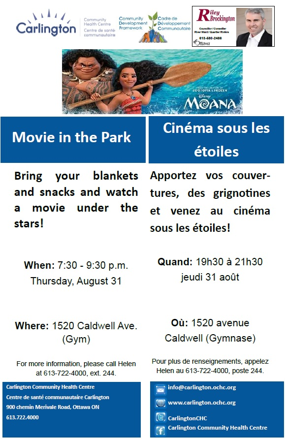 Movie in the Park - Aug 31 - Moana