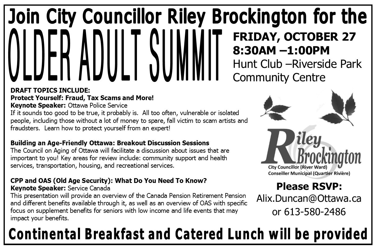 Older Adult Summit - half pager